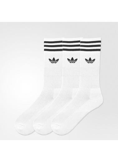 adidas Adidas Günlük Çorap S21489 Solid Crew Sock Beyaz